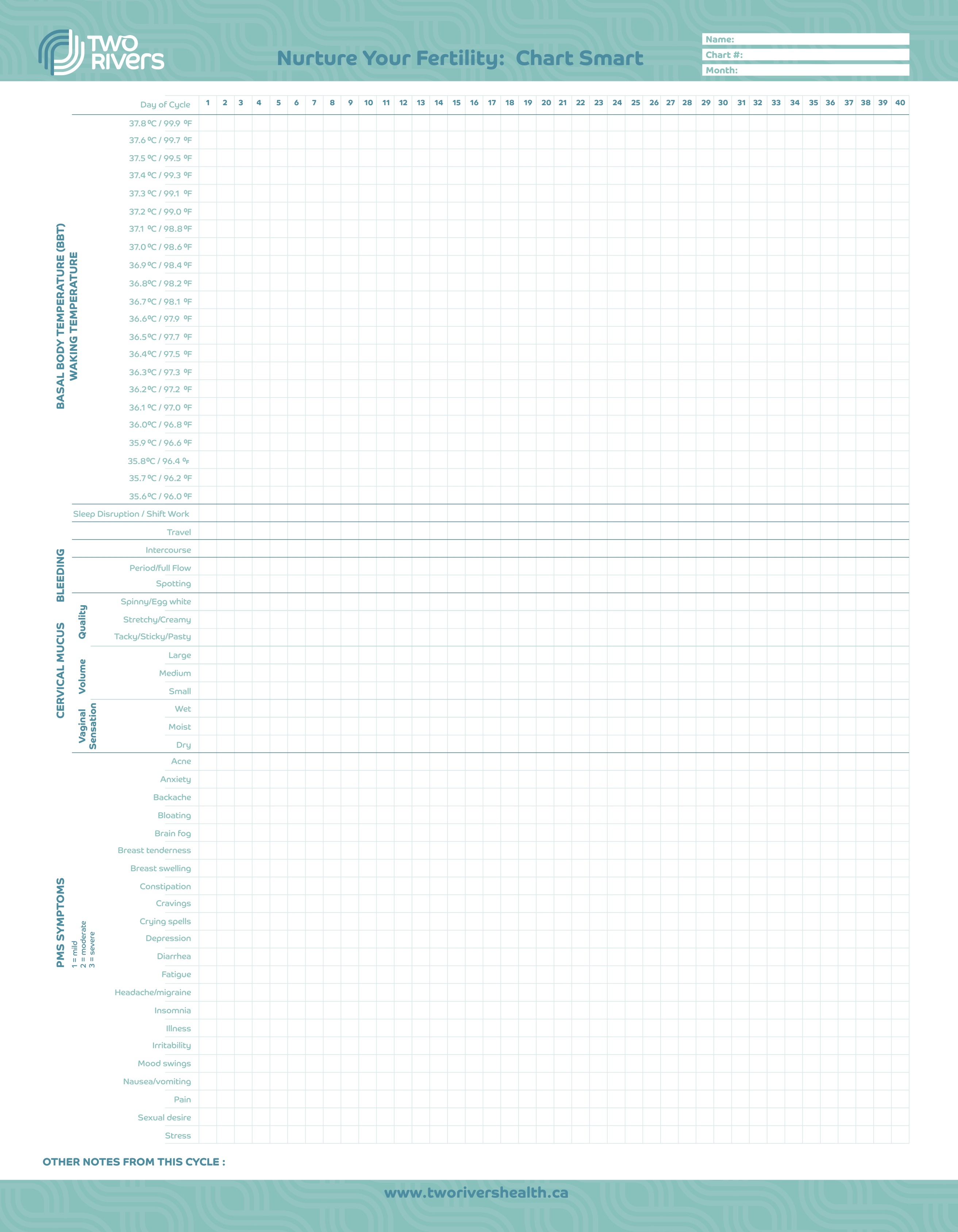 It's just a photo of Lively Printable Fertility Chart